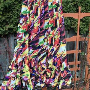Mix Nouveau NY ruffle boho skirt multi color